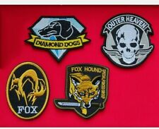 More details for metal gear solid patch badge set video game collectable airsoft cosplay fabric