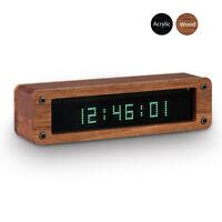 Mini Vintage VFD Clock Vacuum Fluorescent Display Tube Desk Mantel Shelf Clocks