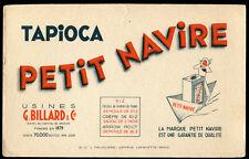 BUVARD TAPIOCA PETIT NAVIRE usine g billiart