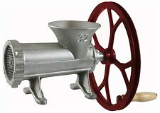 Manual Cast Iron Industrial Meat Grinder Home Kitchen Butcher Shop w/Pulley Tool