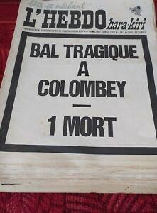 HARA KIRI HEBDO lot intégral n°1 à 94 avec collector BAL TRAGIQUE A COLOMBEY