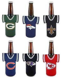 NFL Football Beer Bottle Jersey Cooler - Neoprene Cooler - Pick your team!