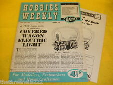 HOBBIES WEEKLY (INC PLANS) - ELECTRIC LIGHT WAGON - APRIL 25 1956