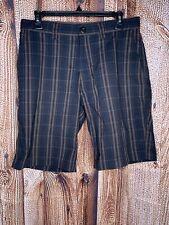 Patagonia Thrift Shorts Organic Cotton Tornado Black Brown Plaid Men's Size 31