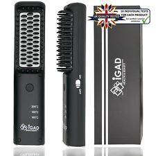 IGAD Compact Cordless Beard Straightener for Men - For Short Beard & Long Beard