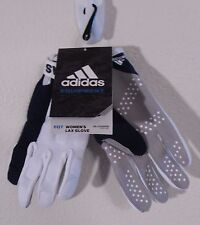 Nwt Adidas Equipment Womens Lax Field Glove L White/Navy Msrp$35