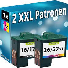 TINTE PATRONEN für LEXMARK 17+27 X1180 X1185 X1190 X1250 X1270 X1290 X2230 X2250