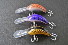 3 X Deep Diving Cod lure Yellowbelly Redfin Lure BKK Hooks MUZZAS LURES R,P,Y