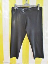 Capri Leggings L 44 46 BIO-Cotton Schwarz bi-elast.hochwert.Caprileggings Elast.