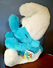 """Vintage SMURF New with Tags SITTING 15"""" Tall by TOMY ~ Ray Rohr Cosmic Artifacts"""
