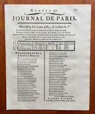Astronomie 1785 Comète de Lalande Pingré Journal de Paris