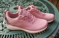 Womens Skechers Bobs Sport Squad Ladies Trainers Nude UK 5 New No Box