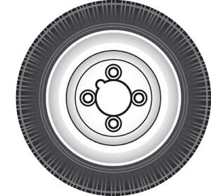 RCT220 RING AUTOMOTIVE TRAILER WHEEL & TYRE 400 X 8'' (TOWING ACCESSORIES)