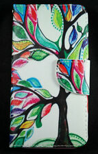 Multi Coloured Tree of Life Wallet Case Cover iPhone 5 6 6 Plus Samsung S5 S6