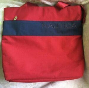 Nautica Red Blue Men Women Unisex Tote Bag Beach Tommy Travel Laptop Overnight