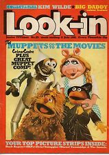 Look-In Magazine 11 July 1981  The Muppets   Kim Wilde   Big Daddy   Julian Cope