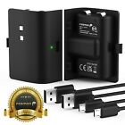 Fosmon 2x Rechargeable Battery Pack Charging Charger 10FT Cable Xbox Series S X