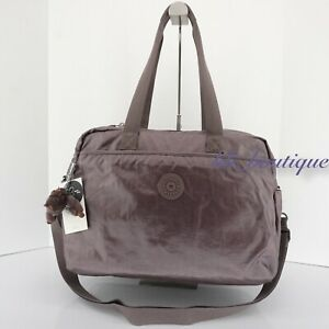 NWT Kipling TM5557 Popper Diaper Bag Changing Pad Nylon Popping Purple Metallic