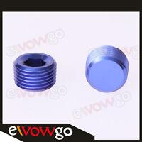"""1/16"""" NPT Pipe Thread Allen Socket Plug NPT Socket Plug Aluminum Blue"""