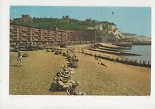 Beach & White Cliffs Of Dover 1969 Postcard 790a