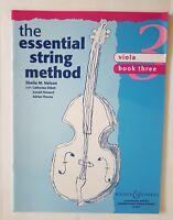 Sheila M. Nelson: The Essential String Method - Viola Book 3 (Music Book)
