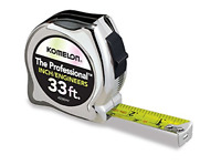 High-Visibility Professional Tape Measure both Inch and Engineer Scale 33-feet