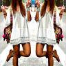 Bohemian Strandkleid in weiß mit Spitzen Muster im Boho Ibiza Style in Größe M
