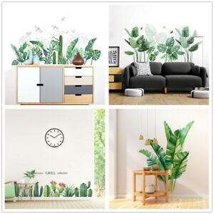 Tropical Plants Casual Wall Stickers Home Children's Room Green Plants Stickers