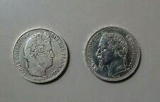 2 PIECES  ARGENT: 5 FR NAPOLEON III DE 1867,LOUIS .PHILIPPE DE 1841, 50 GRAMMES