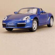 2006 Porsche Blue Die Cast 1:34 Scale Model Car Blue Pull-Back Opening Doors