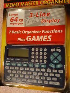 SHARP Memo Master Electronic Organizer EL-6810B 64KB Memory & Games NEW SEALED