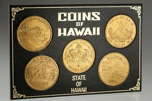 Coins of Hawaii Token Dollar Set in Original Frame and Sleeve