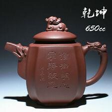 China 100% Handmade Yixing ZiSha Pottery ZI ni kylin lion dragon Teapot 650cc