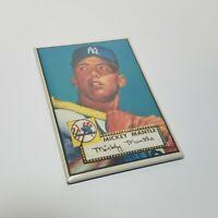 """1952 Topps Mickey Mantle 2""""x3"""" Fridge Locker MAGNET baseball yankees"""