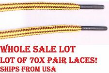 "70 PAIRS WHOLESALE LOT 47"" ROUND Athletic Hiking Boot Sneaker SHOE LACE *RESALE*"