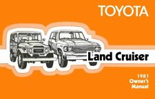 1981 Toyota Land Cruiser Owners Manual User Guide Reference Operator Book Fuses