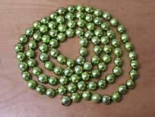 "Vintage Mercury Glass Bead Christmas Tree Garland Green 62"""