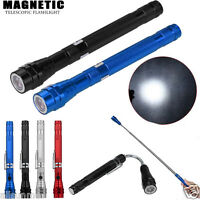 Flexible Torch Telescopic Powerful 3 LED Magnetic Pick Up Tool Light Flashlight