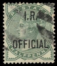 "Great Britain O2i (Sg O1) - Queen Victoria ""I.R. Official"" Deep Green (pa60581)"