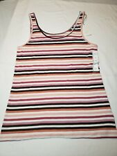 A New Day Purple/Pink Striped Sleeveless Tank Top Size XXL Great for Layering