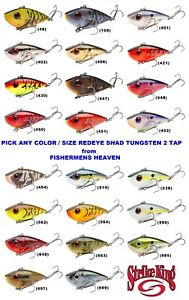 Strike King Crankbait Lipless Red Eye Shad Tungsten 2 Tap Rattle Trap Any Color