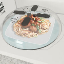 Home Food Splatter Guard Microwave Hover Anti-Sputtering Cover with Steam VentsH