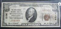 1929 SERIES $10 BROWN SEAL NATIONAL CURRENCY - WATERTOWN NOTE