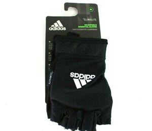Adidas Climalite Ess Adjustable Size M Medium Essential Gloves Black/White 12424