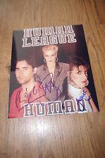 HUMAN LEAGUE signed Autogramme auf 20x25 cm Foto InPerson LOOK