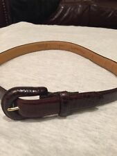Charter Club Women Leather Alligator Embossed Brown Belt Size S