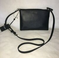 DKNY Top Zip Crossbody Handbag BLACK NEW