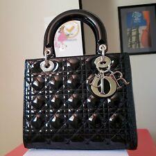 $4,450 Lady Dior black  patent silver hw Medium bag