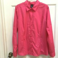 George Women's size 20 Shirt Pink Long Sleeves Top Think PINK