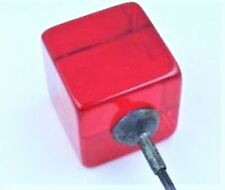 LARGE AND CHUNKY GLOWING RED BAKELITE HATPIN